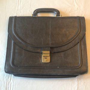 Vintage leather school bag or briefcase